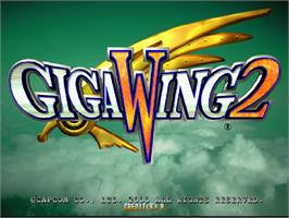 Title screen of Giga Wing 2 on the Arcade.