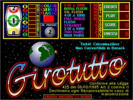 Title screen of GiroTutto on the Arcade.