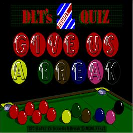 Title screen of Give us a Break on the Arcade.