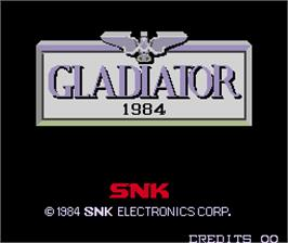 Title screen of Gladiator 1984 on the Arcade.
