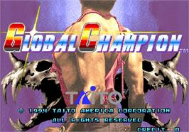 Title screen of Global Champion on the Arcade.