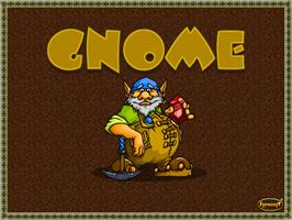 Title screen of Gnome on the Arcade.