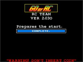 Title screen of Go By RC on the Arcade.