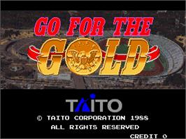 Title screen of Go For The Gold on the Arcade.