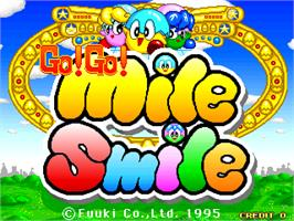 Title screen of Go Go! Mile Smile on the Arcade.