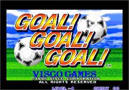 Title screen of Goal! Goal! Goal! on the Arcade.