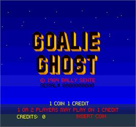 Title screen of Goalie Ghost on the Arcade.