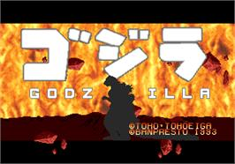 Title screen of Godzilla on the Arcade.