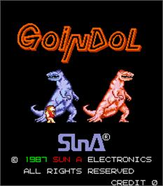 Title screen of Goindol on the Arcade.