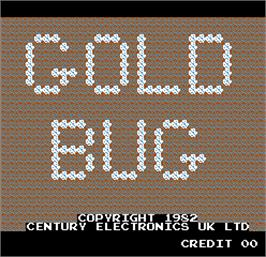 Title screen of Gold Bug on the Arcade.