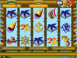 Title screen of Gold Fish on the Arcade.