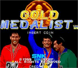 Title screen of Gold Medalist on the Arcade.