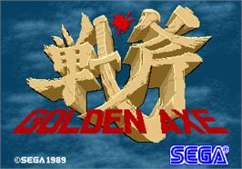 Title screen of Golden Axe on the Arcade.