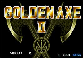 Title screen of Golden Axe II on the Arcade.
