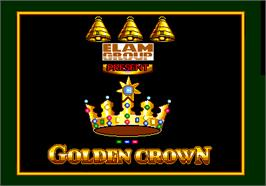 Title screen of Golden Crown on the Arcade.