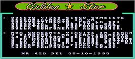Title screen of Golden Star on the Arcade.