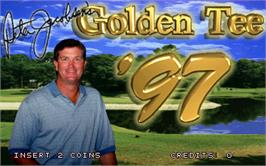 Title screen of Golden Tee '97 on the Arcade.