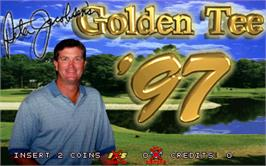 Title screen of Golden Tee '97 Tournament on the Arcade.