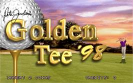 Title screen of Golden Tee '98 on the Arcade.