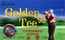 Title screen of Golden Tee '98 Tournament on the Arcade.