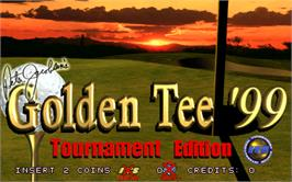 Title screen of Golden Tee '99 Tournament on the Arcade.