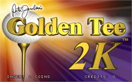 Title screen of Golden Tee 2K on the Arcade.