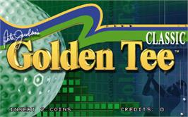 Title screen of Golden Tee Classic on the Arcade.