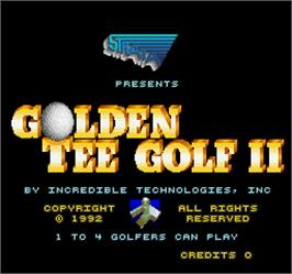 Title screen of Golden Tee Golf II on the Arcade.