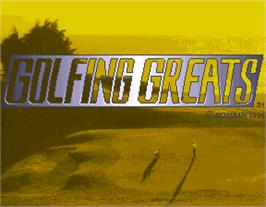 Title screen of Golfing Greats on the Arcade.