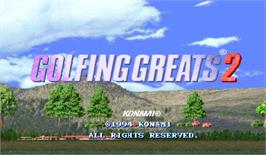 Title screen of Golfing Greats 2 on the Arcade.