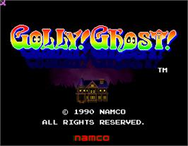 Title screen of Golly! Ghost! on the Arcade.