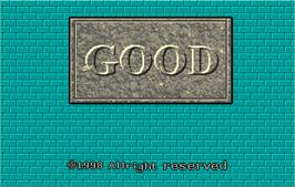 Title screen of Good on the Arcade.