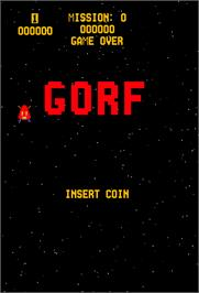 Title screen of Gorf on the Arcade.