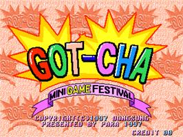 Title screen of Got-cha Mini Game Festival on the Arcade.