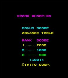 Title screen of Grand Champion on the Arcade.