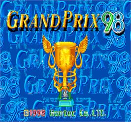 Title screen of Grand Prix '98 on the Arcade.