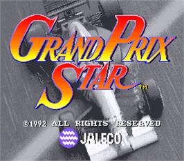 Title screen of Grand Prix Star on the Arcade.