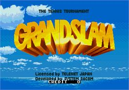 Title screen of Grand Slam on the Arcade.