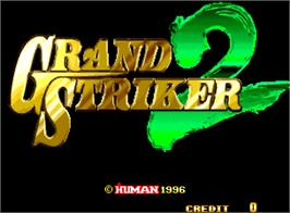Title screen of Grand Striker 2 on the Arcade.