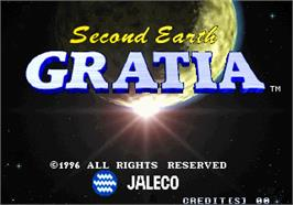 Title screen of Gratia - Second Earth on the Arcade.