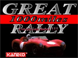 Title screen of Great 1000 Miles Rally: Evolution Model!!! on the Arcade.