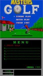 Title screen of Great Golf on the Arcade.