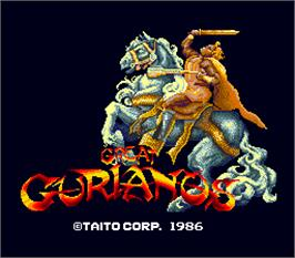 Title screen of Great Gurianos on the Arcade.