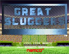 Title screen of Great Sluggers '94 on the Arcade.