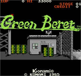 Title screen of Green Beret on the Arcade.