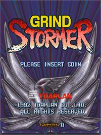 Title screen of Grind Stormer on the Arcade.