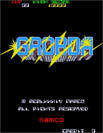 Title screen of Grobda on the Arcade.