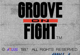 Title screen of Groove on Fight - Gouketsuji Ichizoku 3 on the Arcade.