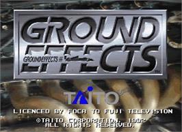 Title screen of Ground Effects / Super Ground Effects on the Arcade.
