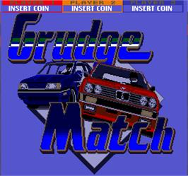 Title screen of Grudge Match on the Arcade.